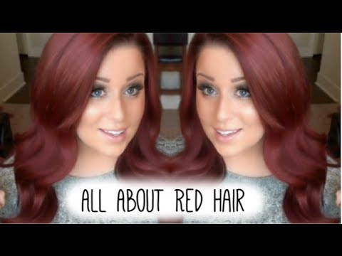 red hair how i went from blonde to red youtube