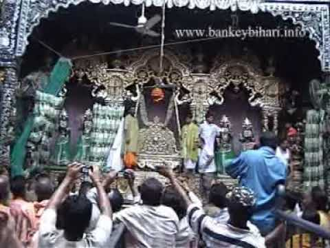 Hariyali Teej In Bankey Bihari Temple, Vrindavan video