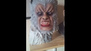 Speed painting Oliver Reed Hammer Horror Curse of the Werewolf Bust