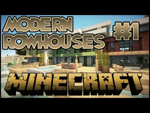 Minecraft Lets Build HD: Modern RowHouses - Part 1