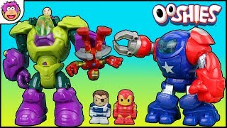 Playskool Heroes Space Command Armor Captain America and Ironman Robot battle Joker & Lex Luthor!