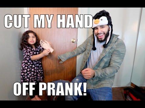 CUT MY HAND OFF PRANK!!