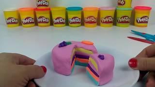 Oyun Hamuru İle Meyveli Pasta Yapıyoruz