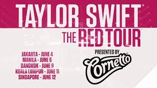Taylor Swift RED Tour Asia announcement