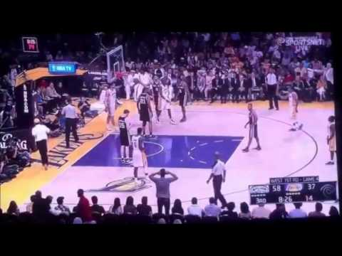 Dwight Howard Gets Ejected Kobe Bryant Comes Out After