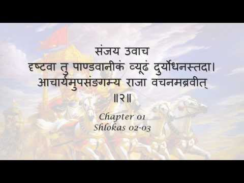 Bhagavad Gita Chapter 01 Shlokas 02-03