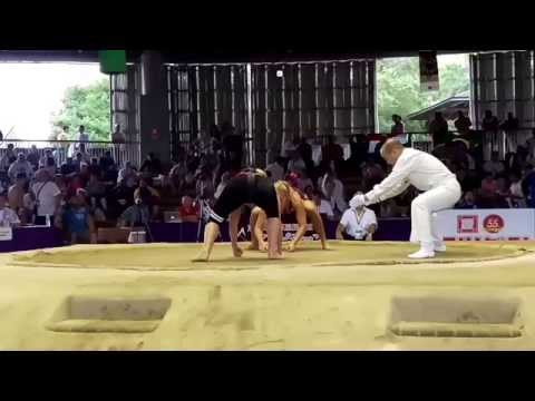 Women's Sumo World Championships 2015 GER vs NOR.