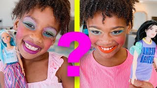 Slime School Back To School Makeup Class with Barbie! Student vs Student