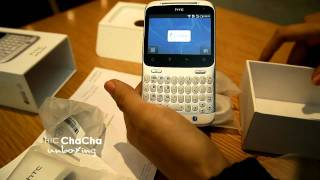 HTC chacha white unboxing