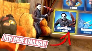 *NEW GAMEMODE* MICHAEL MYERS Custom Gamemode in Fortnite Fatal Fields! (BARRICADE THE BARN!)