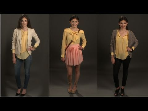 How to Wear One Blouse, Three Ways