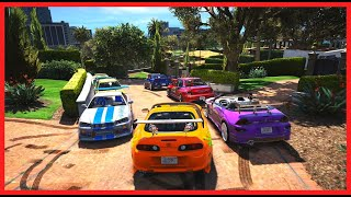 GTA 5 THE TOYOTA SUPRA FAST AND FURIOUS IN MY GARAGE  HOUSE AMAZING!!!!!!