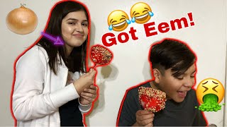 The Kids Fell For Onion Candy Apples!!! Vlogmas Day 18 + Giveaway