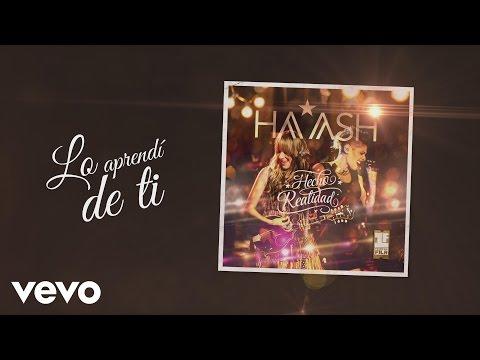 Ha-ash - Lo Aprendi De Ti (cover Audio) video
