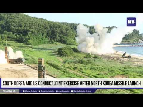 South Korea and US conduct joint exercise after North Korea missile launch