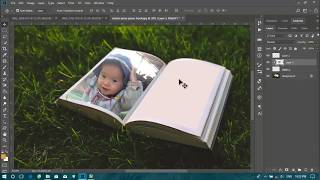 How to make book image with photoshop?