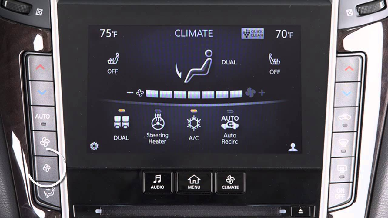 2015 Infiniti Q50 Climate Controls Youtube