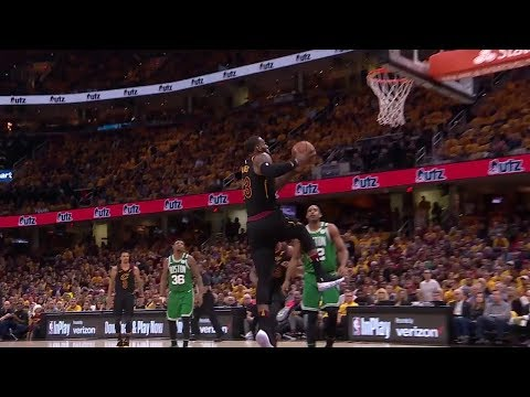 LeBron James Incredible Reverse Dunk  - Game 3 | Celtics vs Cavaliers | 2018 NBA East Finals