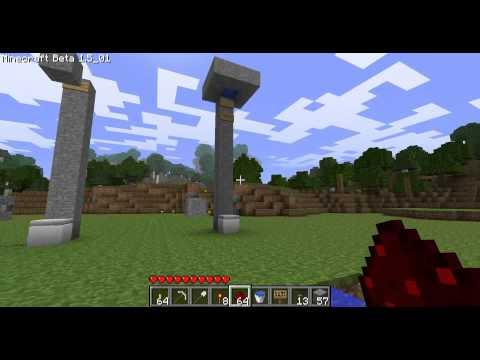 Minecraft - Les MDM : piston 6 Système de simple propulsion à un piston