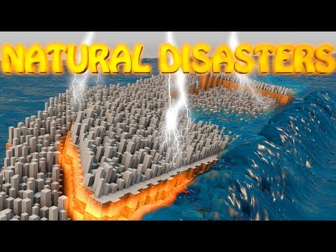 Minecraft NATURAL DISASTERS MOD Showcase Earthquake Volcano Meteor