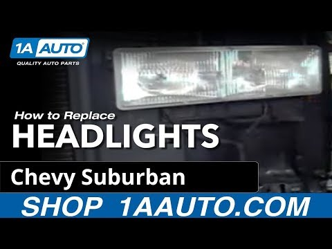 How To Install Replace Headlight 92-98 Chevy Silverado Suburban Tahoe - 1AAuto.com
