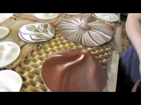 Making ceramic wall art discs by Natalie Blake Studios
