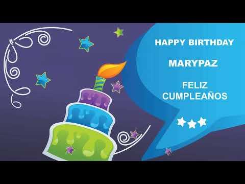 Marypaz  Card Tarjeta - Happy Birthday