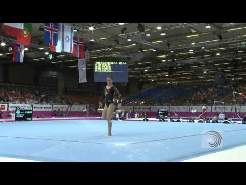 European Championships Brussels 2012, Carlotta FERLITO (ITA) Floor Exercise
