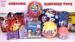 Pikmi POPS LOL Surprise TOYS Unboxing Mash Up NUM NOMS Blind Bags Disney Shopkins Incredibles 2