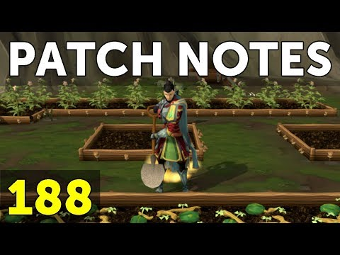 RuneScape Patch Notes #188 - 25th September 2017