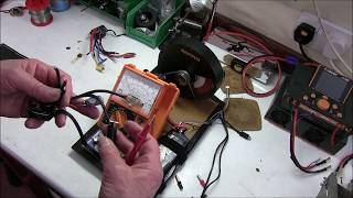 Brushless R/C Model Car Speedo fault testing with MiniPro dyno.