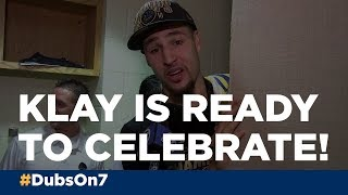 VIDEO: Klay Thompson is ready to celebrate with his dog Rocco