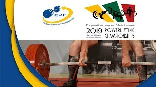 Open Men, 105 kg - European Classic Open, Jr & S-Jr Powerlifting Championships 2019
