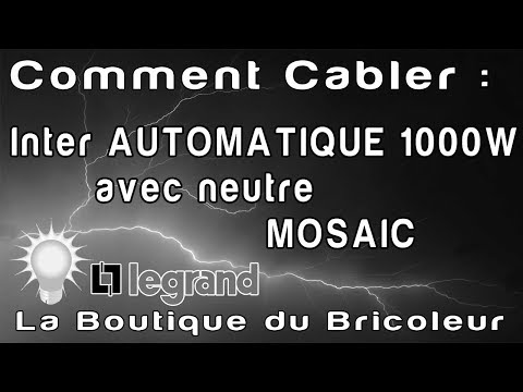 De a z montage inter auto mosaic avec neutre 1000 w ref 78451 legrand d home otik youtube - Branchement detecteur de mouvement sans interrupteur ...