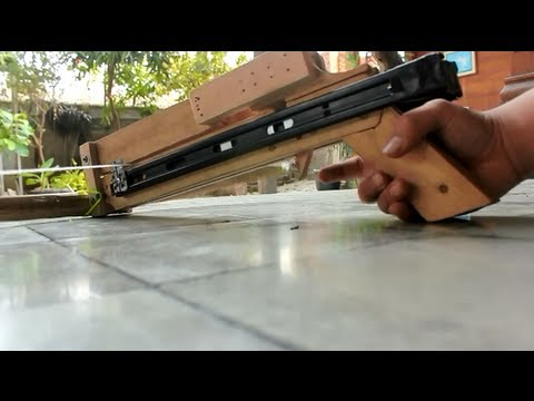 Slide Repeating Crossbow with Bamboo Bow