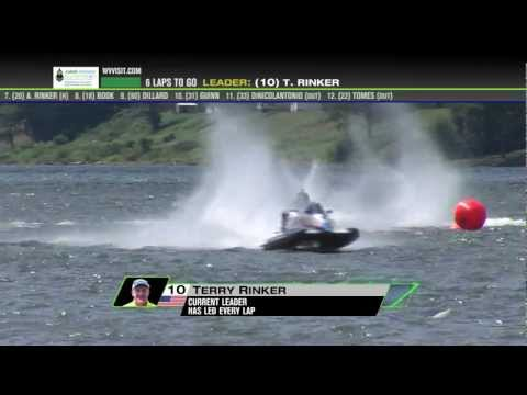 2012 TrickShot 360 - Powerboat Superleague racing in Huntington, WV