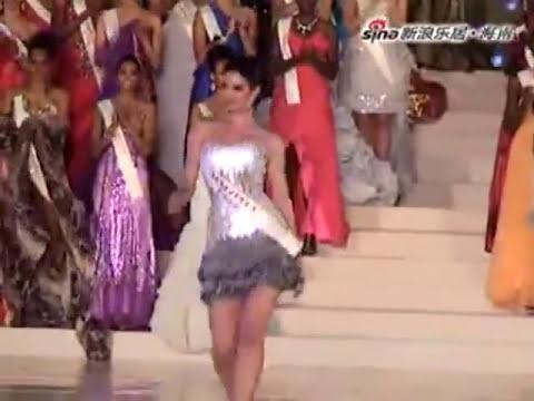 Adriana Vasini en la competencia de top model - Miss Mundo 2010