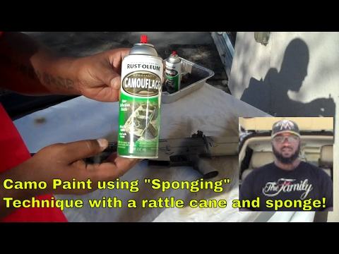Camo Painting Tutorial (Sponging) (Works for Airsoft and Real Steel)