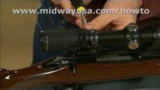 Gunsmithing - How to Boresight a Rifle Scope the Old Fashion Way