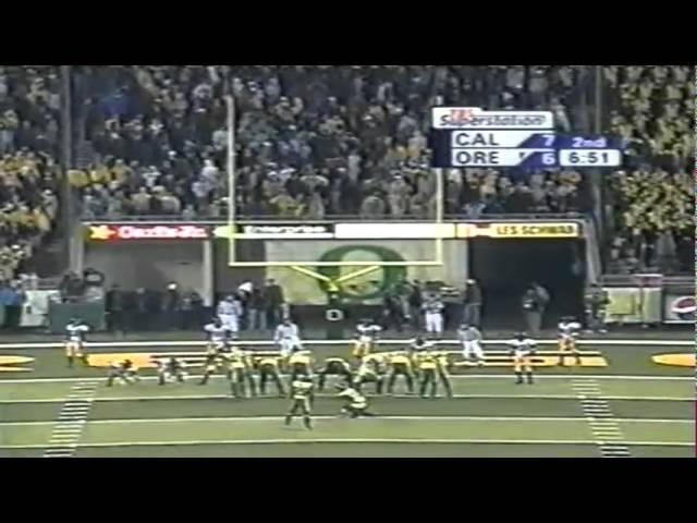 Oregon WR Samie Parker 13 yard touchdown catch vs. Cal 11-08-2003