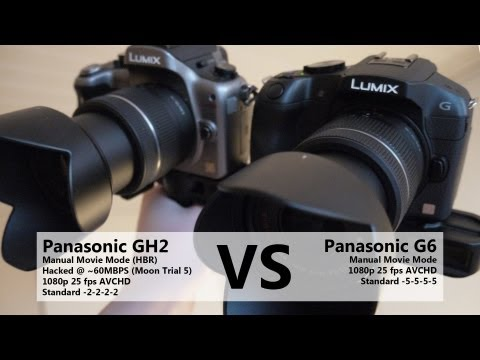 Panasonic G6 vs GH2 video quality