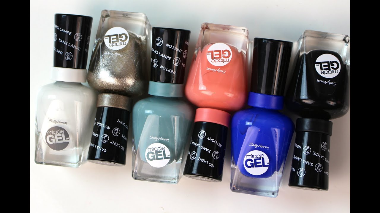 Sally hansen miracle gel polish review bailey b youtube