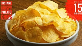 Homemade Instant Potato Chips In 15 Minutes | Aloo Chips Recipe by Food Code