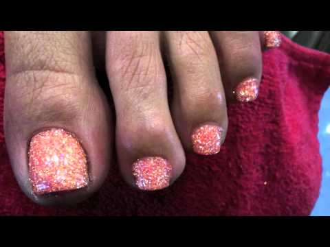 Glitter Toes Tutorial Glitter Toes Differ Color