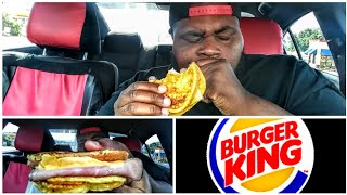 Burger King New ! Ham & cheese French toast sandwich