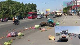 Tin nóng: Xe khách vượt đèn đỏ gây tai nạn kinh hoàng ở Bình Dương, 24/02/2018