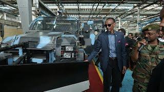 President Kagame Visiting Ethiopia's Metals And Engineering Corporation- Ethiopia, 17 April 2015