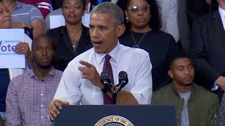 Obama Defends Trump Protester at Clinton Rally