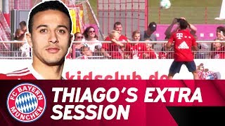 Thiago Practicing Headers with FCB KidsClub | FC Bayern