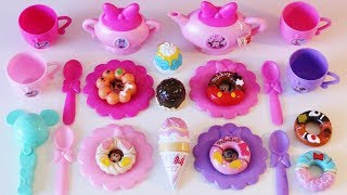 Minnie Mouse Bowlicious Tea Set Ice Cream Shop Donut Shop toys for toddlers preschoolers